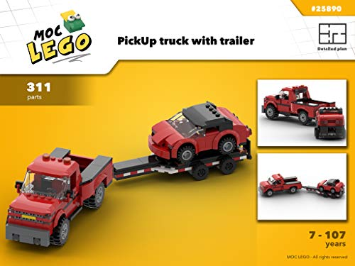 PickUp truck with trailer (Instruction Only): MOC LEGO por Bryan Paquette