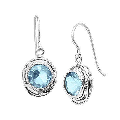 Silpada Hooked on Blue Blue Cubic Zirconia Drop Earrings in Sterling Silver