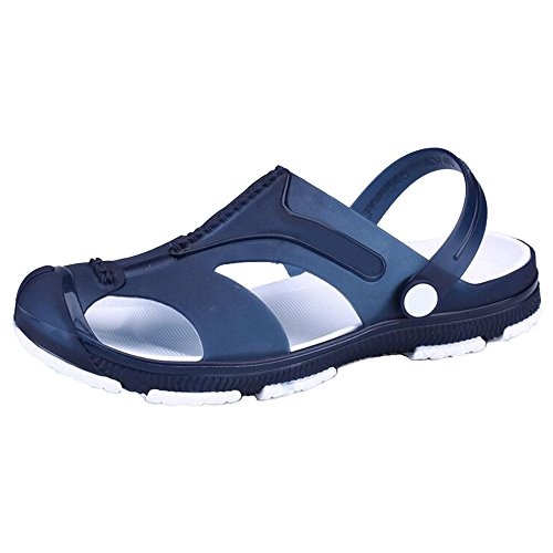 Eastlion Outdoor Leisure Hollow Breathable Beach Slippers Men's Fashion Sports Sandals Style 1 Blue u1KTB