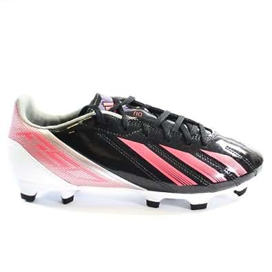 Adidas F10 TRX FG Soccer Cleats - Black/Metallic Silver/Pink (Womens) - 7