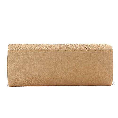 ANDAY - Cartera de mano para mujer Beige beige talla única dorado