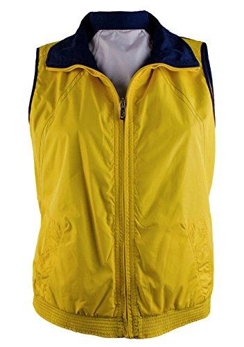 (RALPH LAUREN Women's Reversible Zip-Up Colorblocked Vest-SN-L)