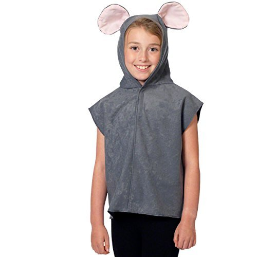 [Grey Children's Mouse Tabard Costume] (Pinky Brain Costume)