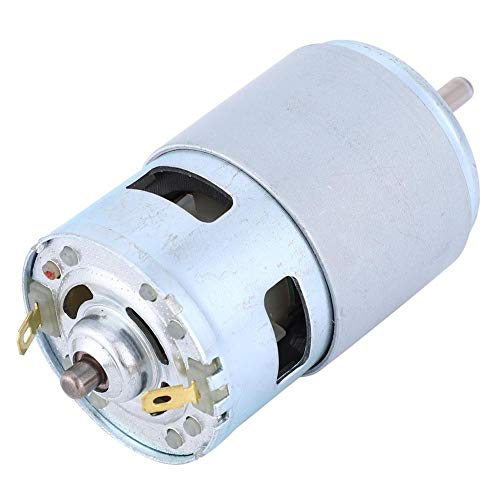 High Power Micro DC 12V Electric Motor Driver Ball Bearing Shaft Low Noise Motor for Car Wash Pump, Sprayer, Paper Shredders, Electric Tools, 60W 4000RPM