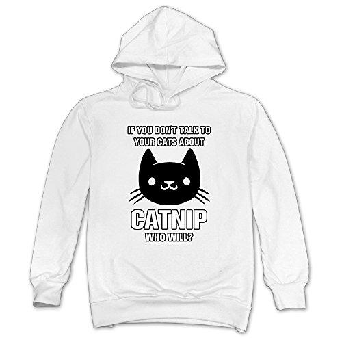 bout Catnip Hoodie Sweatshirt White (Exhaust Pullover)