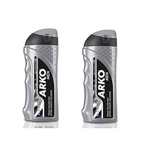 Arko Men Aftershave Cologne Platinum 250ml (2 PCs Offer) Evyap