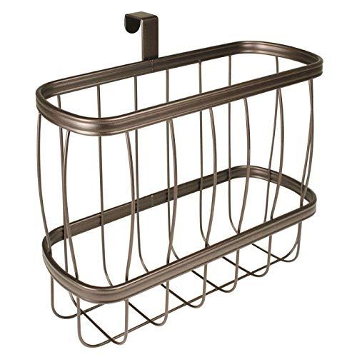 Magazine Holder Bronze Over Tank Freestanding Bathroom Organizer Rack Storage - Over Tank Magazine Rack
