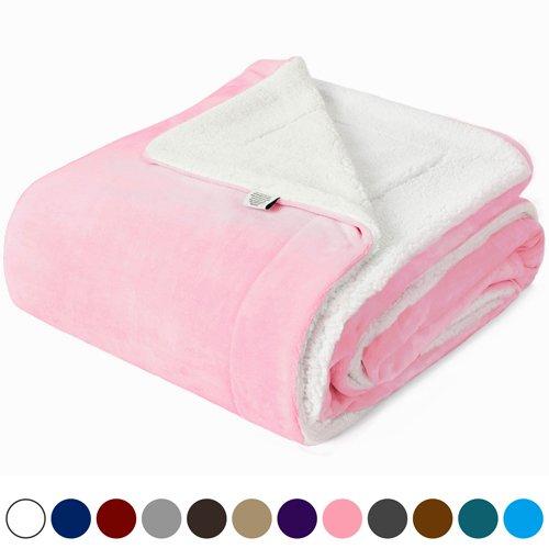 Kawahome Sherpa Luxurious Blanket, Super Warm Extra Soft Rev