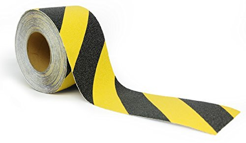 Safety Tape Roll Yellow and Black Anti Slip - Highest Traction (4
