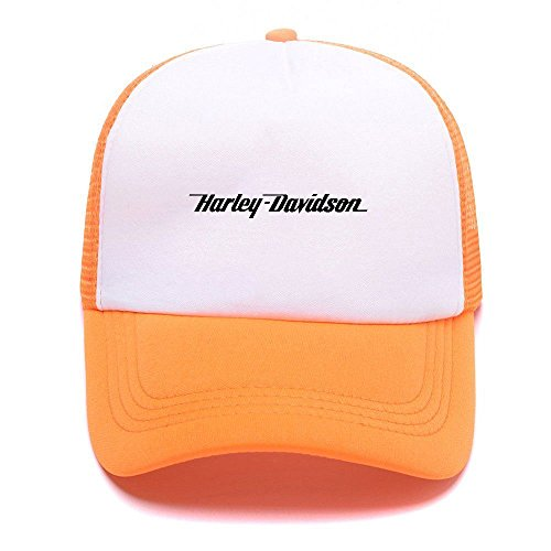 Mesh de Hat Baseball Black D Caps Gorras Girl Harley Cap For béisbol Women Boy Men Orange 009 Trucker fqz4XwE