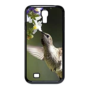 Cute Animal Hummingbird Background Case Cover for SamSung Galaxy S4 I9500- Personalized Hard Cell Phone Back Protective Case Shell-Perfect as gift