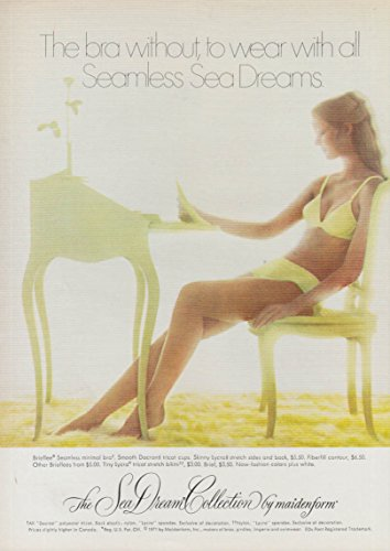 The bra without, to wear with all Maidenform Sea Breeze ad 1971 panties NY