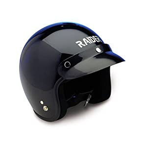 Raider Open Face Helmet (Black, XX-Small) from Raider