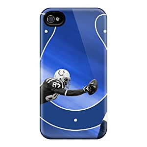 Bumper Hard Cell-phone Case For Apple Iphone 4/4s (PSM15135dzZm) Support Personal Customs Stylish Indianapolis Colts Skin