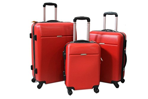 Set Trolley You Bag 3 pz l.abs viaggio vacanze 3003 rosso
