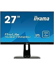 "iiyama ProLite XUB2792QSU-B1, 27"", IPS, 2560x1440 (WQHD), DisplayPort-HDMI-VGA-USB3.0, speakers, hoogte verstelbaar, zwart"