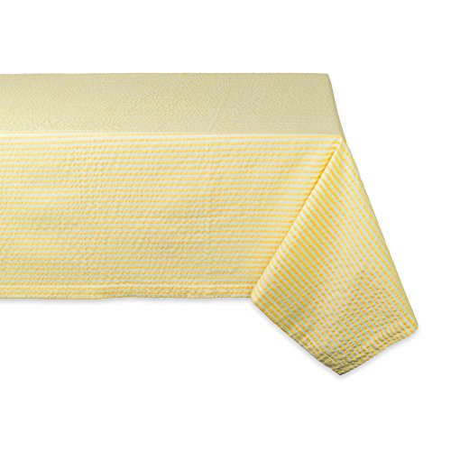 DII Cotton Seersucker Striped Tablecloth for Weddings, Picnics, Summer Parties and Everyday Use, 60x84