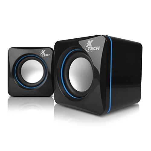 Xtech Americas Computer Speakers- USB-Powered and 3. 5mm Connection- Digital sound quality Stereo speakers, Great for Music, Movies, Gaming, 2. 0 Speaker system wired - America Usb Powered Speaker
