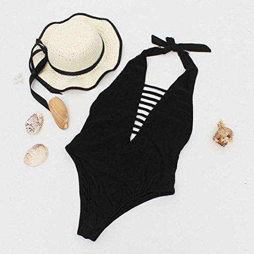 Nero Un up Donna Spiaggia Bagno Set Donne Interi Beautytop Sexy Jumpsuit Reggiseno Push Swimwear Da Costume Pezzo Beachwear Costumi Mare Imbottito Bikini qSEw1v