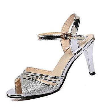 Sandalias mujer sandalias de verano Casual PU Stiletto talón hebilla de oro plata / Otros US8 / EU39 / UK6 / CN39