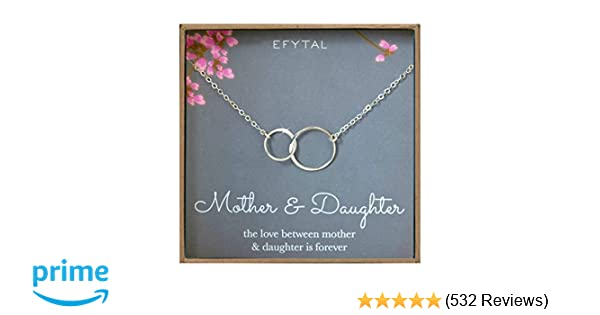 Amazon EFYTAL Mother Daughter Necklace
