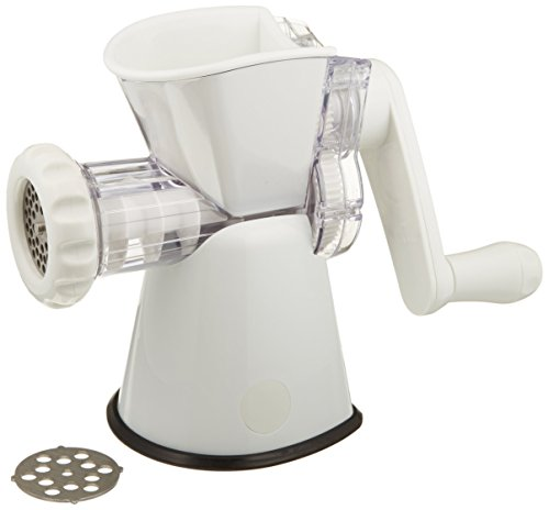 Manual Tinned Meat Grinder - Weston No. 8 Manual Food Grinder (16-0201-W) for Fresh Ground Meats and Vegetables, With Sturdy Suction Base