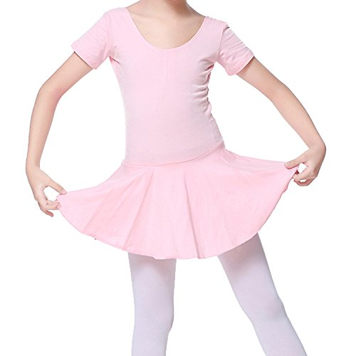 [Leotards, Zupoo Girls Kids Ballet Dancewear Short Sleeve Ballet Tutu Dance Costume Dress Kids Gymnastics Leotard Dancing Skirt] (Cute Kids Dance Costumes)