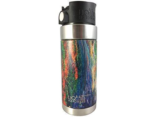 Liquid Hardware Aurora: Travel Coffee Mug Stainless Steel Double Wall Vacuum Insulated Leak Proof BPA Free with Magnetic Quick Stick Lid (Melted Earth, 16 oz) by Liquid Hardware