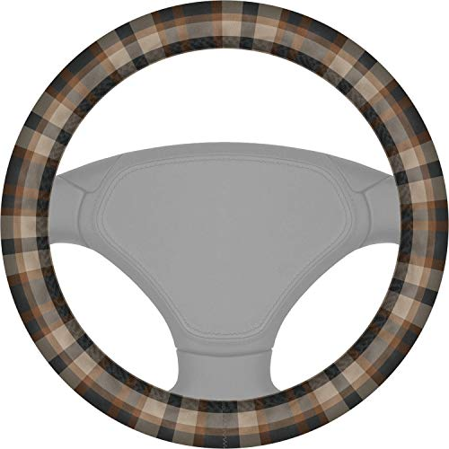 YouCustomizeIt Moroccan Mosaic & Plaid Steering Wheel Cover (Personalized)