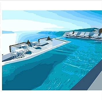 GUHUA Dubai Swimming Pool DIY Malen Nach Zahlen Auf Leinwand ...