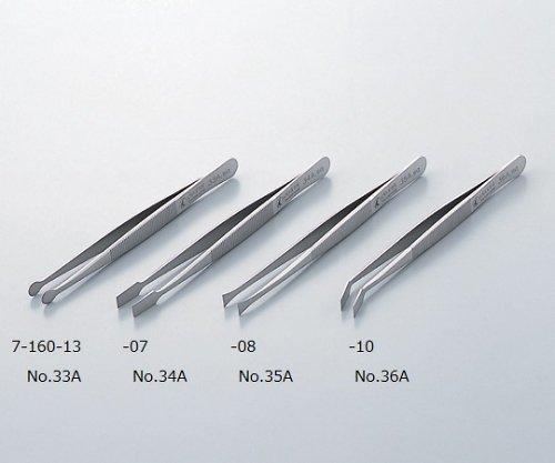 アズワン7-160-13フラットピンセットNo.33A扁平特殊鋼 B07BD2X7DN