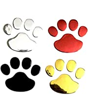 STOBOK 4 Pares de la Huella de la Etiqueta de la Huella de la Pata del Perro Auto Car Emblem Decal Decal Decoración