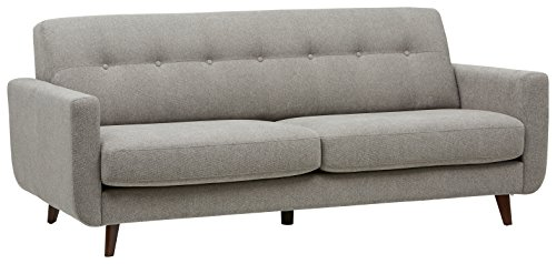 - Rivet Sloane Mid-Century Modern Tufted Sectional Sofa Couch, 79.9