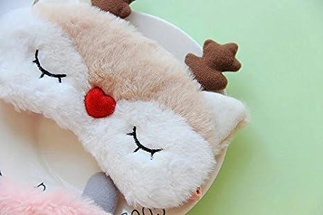 Joyfeel Acheter Masque de Sommeil Renne Style Dessin anim/é Masque pour Les Yeux Nuances r/églable Sain pour Voyage Sleeping Tissu Rose 18 * 7CM