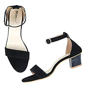 BK DREAM Women's Single Strap Block Heels