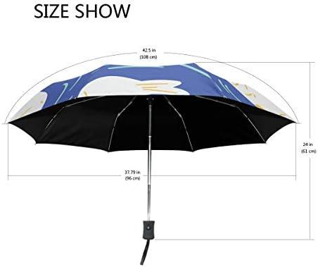 Akiraki 折りたたみ傘 レディース 軽量 ワンタッチ 自動開閉 メンズ 日傘 UVカット 遮光 アザラシ 海豹 ブルー かわいい 可愛い 青 折り畳み傘 晴雨兼用 断熱 耐強風 雨傘 傘 撥水加工 紫外線対策 収納ポーチ付き