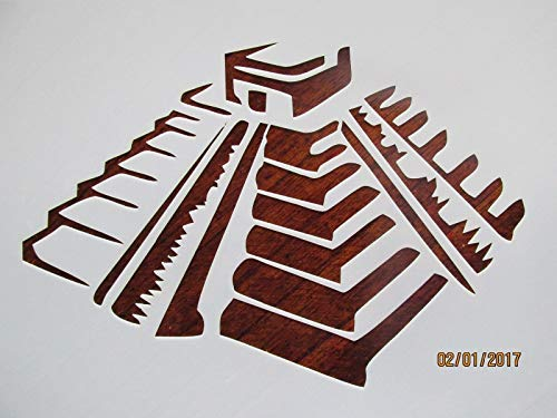 OutletBestSelling Reusable Sturdy Mayan Temple Stencil Reusable 10 mil ()