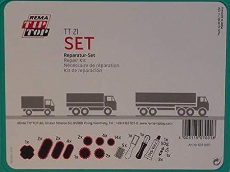 Rema Tip Top Schlauch Reparatur Set Sortiment Tt 21 Truck Big Box Schlauchflicken 507001 Baumarkt
