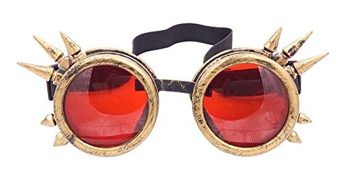 Welding Punk Glasses Cosplay (Bronze) - 2