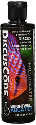 Discus Trace Elements - Brightwell Aquatics ABADSC250 Discus Code Fresh Water Conditioners for Aquarium, 8.45-Ounce