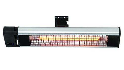 HeTR Ceiling or Wall Mount Radiant Patio Heater, 1500W, Electric, Indoor/Outdoor