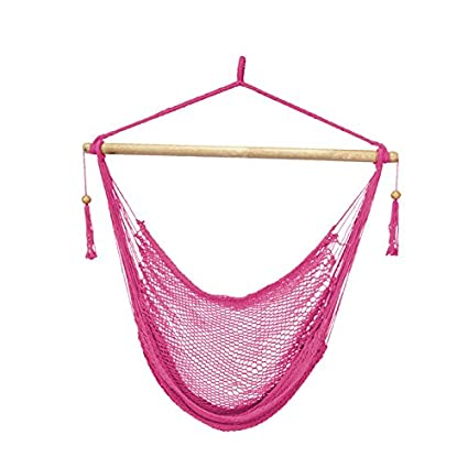 Remarkable Bliss Hammocks Bhc 412Pk Island Rope Hammock Chair Pink Pabps2019 Chair Design Images Pabps2019Com