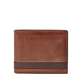 Fossil Men's Quinn Bifold with Flip Id, Brown, One Size