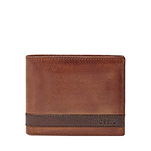 Fossil Men's Flip ID Bifold Wallet, Brown, One Size (Best Place To Mine Tin)