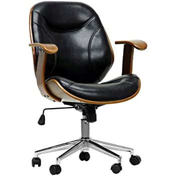 Baxton Studio Rathburn Modern Office Chair, Walnut/Black