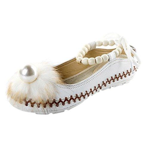AIMTOPPY HOT Sale Lady Retro Beaded Ethnic Embroidered Shoes Bandage Shoes (US:7.5, White) by AIMTOPPY (Image #2)