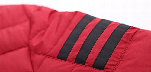 US Athletic Down Zip Jacket Military Men's Coat Red EKU Up Wine XL Baseball AqwPcC