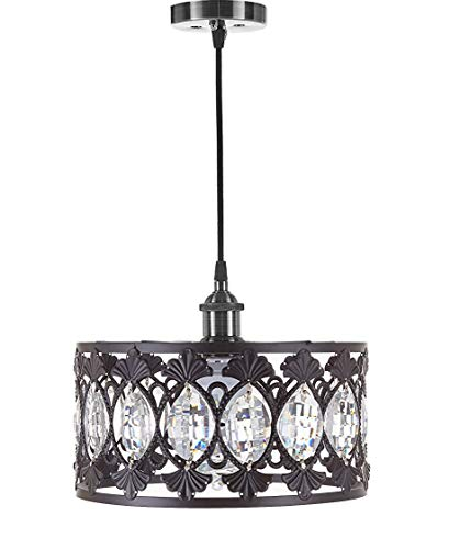 Black Pendant Light With Crystals in US - 8