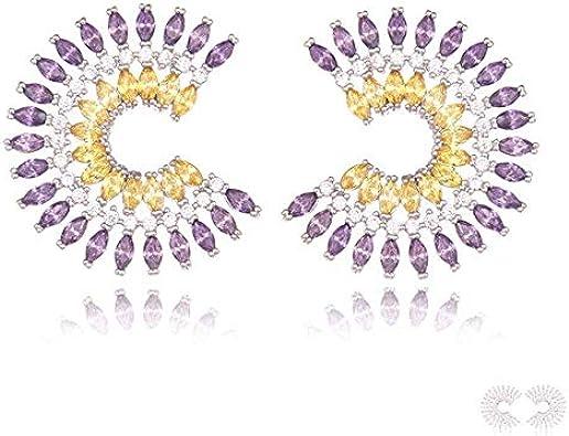 Pendientes de gota de agua con encanto elegantes para mujeres Pendientes de piercing de cristal de circonita de alta calidad
