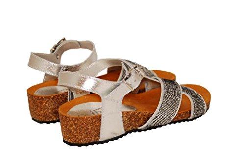 Sandalen Sandaletten aus Leder Schuhe Damen RIPA shoes - 59-2593
